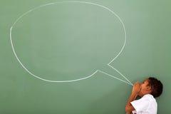 Schoolboy κιβώτιο συνομιλίας Στοκ εικόνα με δικαίωμα ελεύθερης χρήσης