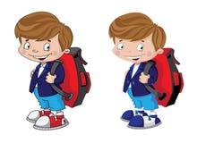 Schoolboy σύνολο Στοκ εικόνες με δικαίωμα ελεύθερης χρήσης