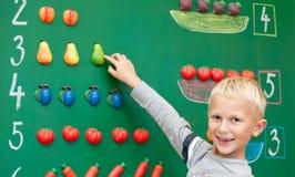 Schoolboy του πρώτου έτους Στοκ Εικόνα