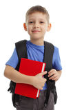 Schoolboy. With backpack isolated on white Stock Image