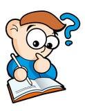 Schoolboy. Cartoon boy with book – vector illustration Royalty Free Stock Image