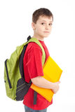Schoolboy. stock photography