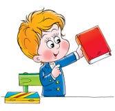 Schoolboy. Clip-art (illustration) for your design, scrapbook, album, postcard, cover, etc Royalty Free Stock Photography