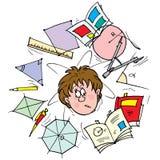 Schoolboy. Clip-art (illustration) for your design, scrapbook, album, postcard, cover, etc Stock Photo
