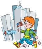 Schoolboy. Clip-art (illustration) for your design, scrapbook, album, postcard, cover, etc Royalty Free Stock Photos