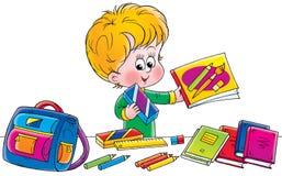 Schoolboy. Clip-art (illustration) for your design, scrapbook, album, postcard, cover, etc Royalty Free Stock Images