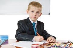 schoolboy royaltyfri bild