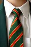 Schoolboy. With school tie and blazer royalty free stock photography