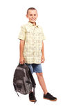 Schoolboy with backpack Royalty Free Stock Photo