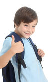 Schoolboy with backpack Stock Photography