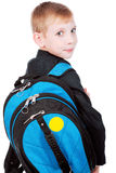 Schoolboy with bag Royalty Free Stock Photo