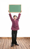 Schoolboy with blackboard Royalty Free Stock Image