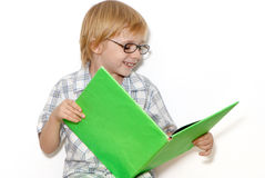 The schoolboy with book Royalty Free Stock Photos