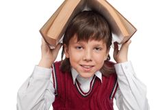 Schoolboy with the book Royalty Free Stock Photo