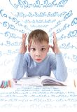The schoolboy with the book Stock Images