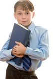 Schoolboy with a book Stock Image