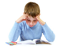 Schoolboy with the book Royalty Free Stock Photos