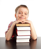 Schoolboy with books Royalty Free Stock Image