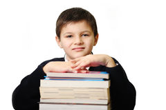 The schoolboy with books Royalty Free Stock Photography