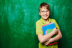Schoolboy with books Royalty Free Stock Photo