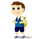 Schoolboy. The boy in her school uniform with a rucksack Stock Photos