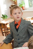 Schoolboy in the classroom Royalty Free Stock Images
