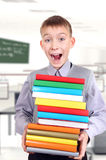Schoolboy in the Classroom Royalty Free Stock Photography