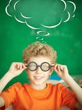 Schoolboy in eyeglasses Royalty Free Stock Photos