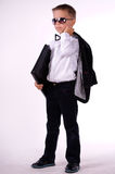 Schoolboy. With folder in hand Stock Images