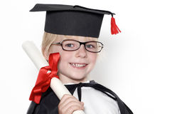 Schoolboy in graduation cap Stock Photo