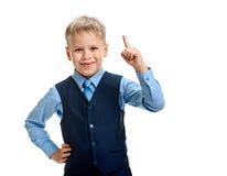 Schoolboy having an idea Stock Images