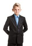Schoolboy hiding hands Stock Photo