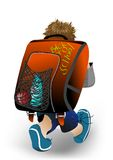 Schoolboy with his satchel. 10 EPS Royalty Free Stock Photography