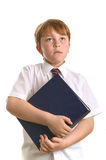 Schoolboy holding a book Royalty Free Stock Images