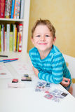 Schoolboy at home Royalty Free Stock Photo