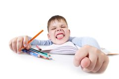 The schoolboy - idler Stock Photo