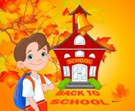 Schoolboy. Illustration of schoolboy goes to school Stock Photo