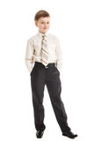 Schoolboy isolated on white background Royalty Free Stock Photography
