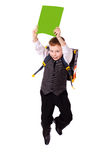 Schoolboy jumping Royalty Free Stock Photo