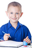 Schoolboy at the lesson Royalty Free Stock Images