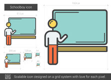 Schoolboy line icon. Royalty Free Stock Photography