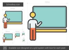 Schoolboy line icon. Stock Photos