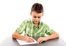 Schoolboy på examen Royaltyfria Bilder