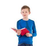Schoolboy with red book Stock Photo