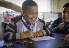Schoolboy, Rural School, Cuba Royalty Free Stock Images