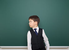 Schoolboy and the school board Royalty Free Stock Photography