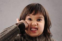 Schoolboy serie av den klyftiga ungen 6-7 gammala år Fotografering för Bildbyråer