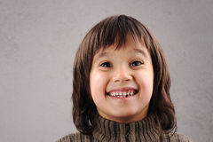 Schoolboy, series of clever kid 6-7 years old Stock Photos