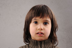 Schoolboy, series of clever kid 6-7 years old Royalty Free Stock Image