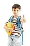 Schoolboy showing OK sign Stock Photos